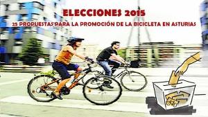 Elecciones 2015. 25 propuestas para el #FomentoBici en #Asturias