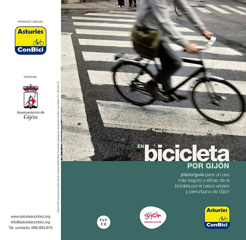 Plano-Guía para circular en bici por Gijón
